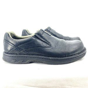 Merrell World Legend Shoes Black Leather Loafers